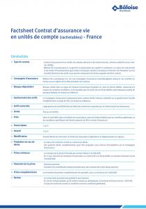 Contrat Profolio La Baloise Luxembourg 2018